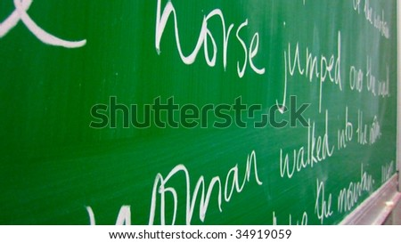 Close-up of a chalk board - stock photo