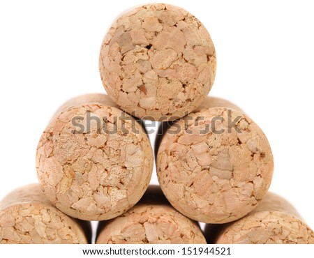 Close up of a champagne corks.