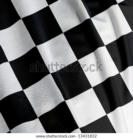 Close up of a chequered flag, square image