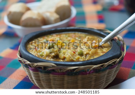 Close up of a chicken casserole - stock photo