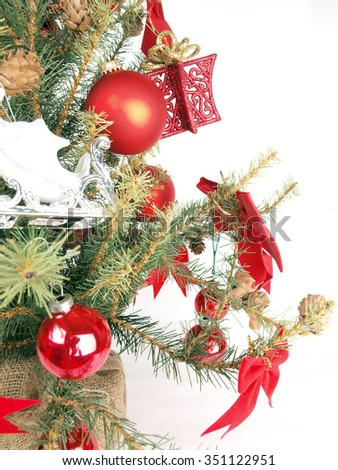 close up of a Christmas tree shot as a base image for custom holiday layouts - stock photo