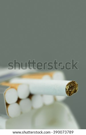 close up of a cigarette - stock photo