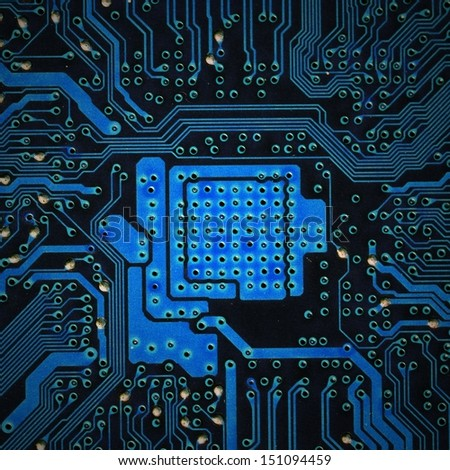 close-up of a circuit board of a computer - stock photo