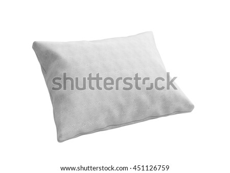 close up of a clasic white pillow 3d render on white background