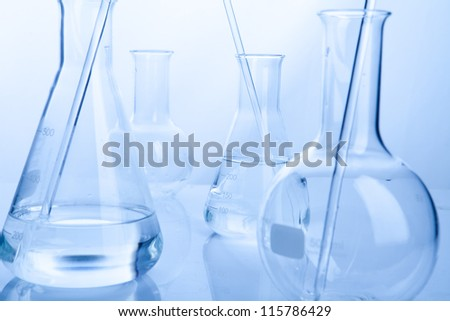 Close up of a clean sample into a test lab tube - stock photo