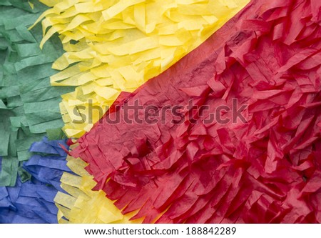 close up of a colorful paper pinata - stock photo