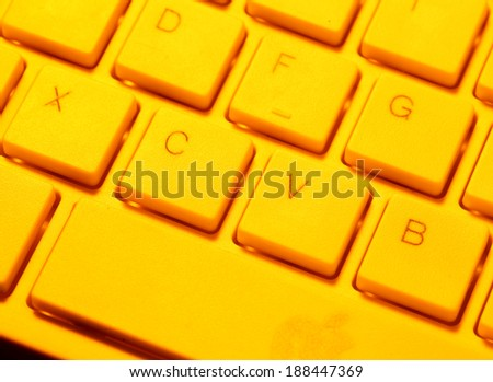 Close up of a computer keyboard - stock photo