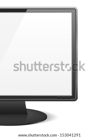 Close-up of a computer monitor - stock photo