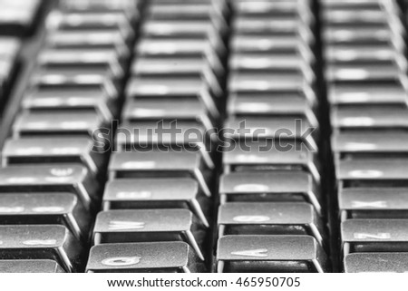 Close up of a computer pc keyboard