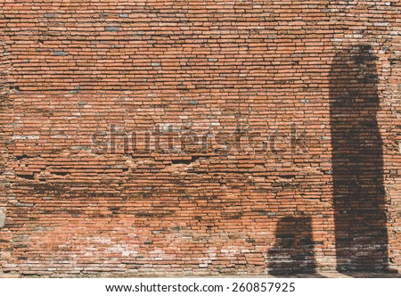 Close up of a concrete wall for background.Old brick wall