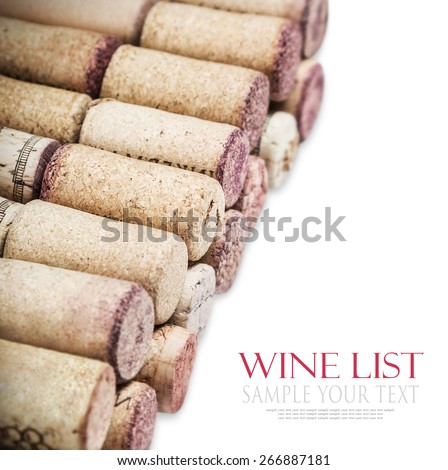 Close up of a cork wine. Focus in the center of the frame. Very shallow depth of field. for example text and easily removed - stock photo