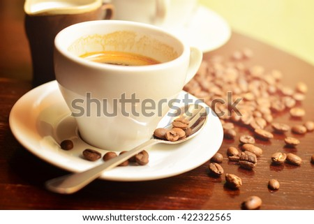 Close-up of a cup of coffee - stock photo