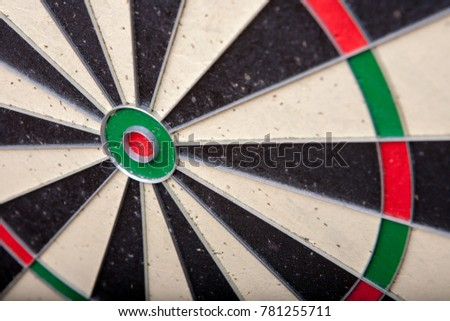 Close up of a darts board
