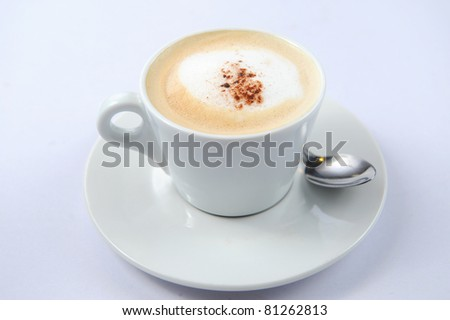 Close-up of a delicious cup of coffee or hot chocolate - stock photo