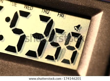 Close up of a Digital clock - stock photo