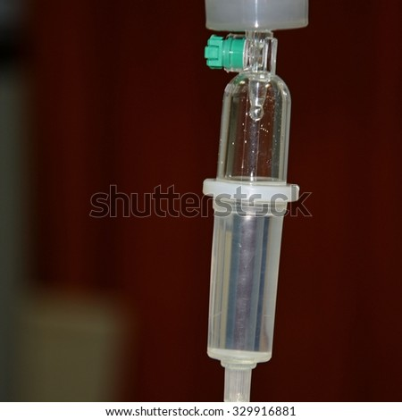 Close up of a drip infusion set - stock photo