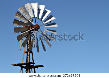 Close up of a farm windmill. - stock photo