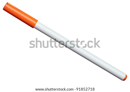 close up of  a felt tip pen on white background with clipping path