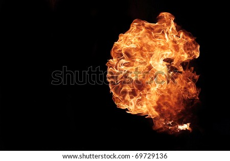 Close up of a fire