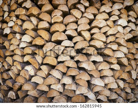 close-up of a firewood heap - nice background pattern