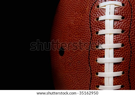 close up of a football