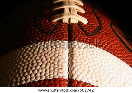 Close up of a football, - stock photo