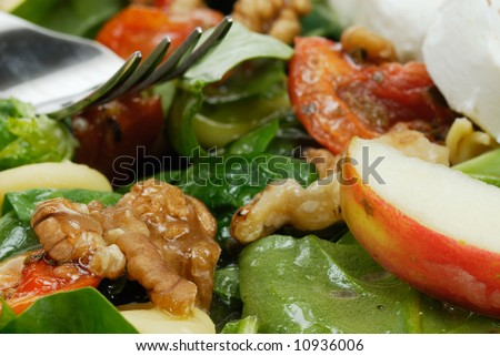 close-up of a fresh and healthy salad