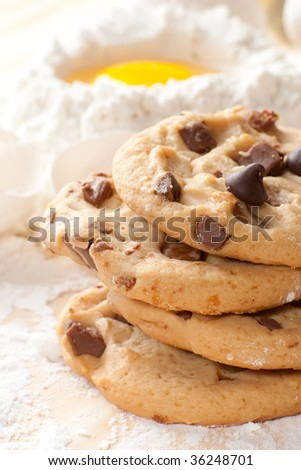 Close up of a freshly baked cookies