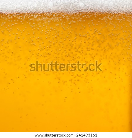 Close up of a glass of beer - stock photo
