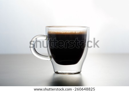 Close up of a glass of espresso - stock photo
