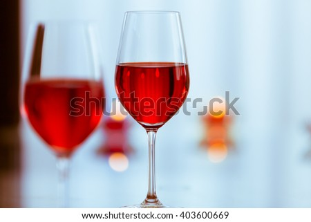 Close up of a glass of red wine.  - stock photo