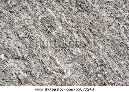 Close-up of a gray rock texture - stock photo