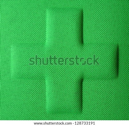 Close-up Of A Green First Aid Medical Kit - stock photo