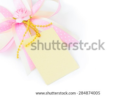 close up of a greeting card with decoration - stock photo