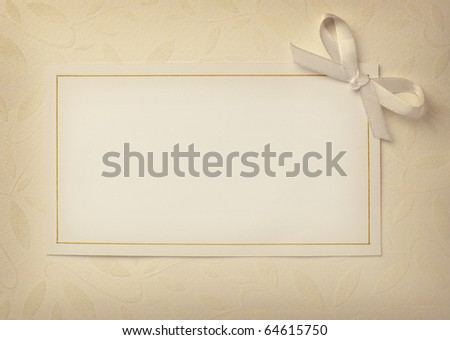 close up of a greeting card with decoration