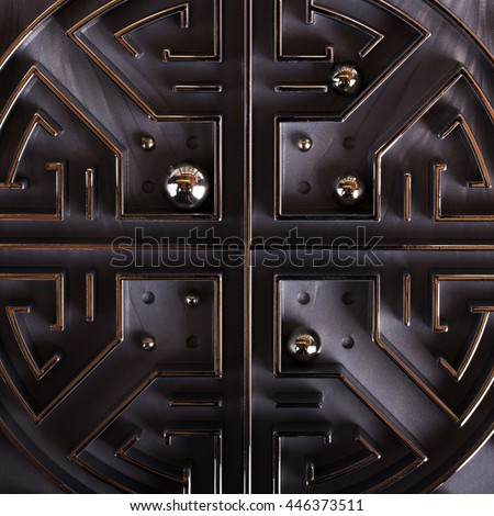 Close up of a grey labyrinth or maze puzzle - stock photo
