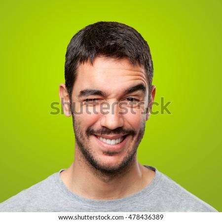 Guy winking