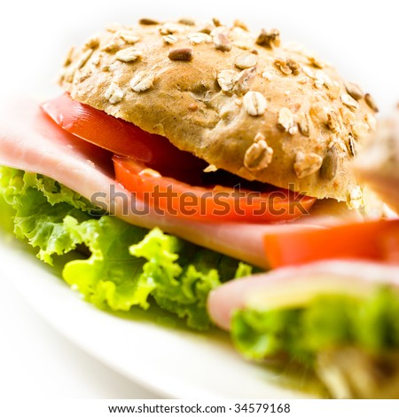 Close up of a healthy sandwich - stock photo