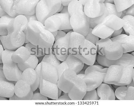 close up of a heap of styrofoam pellets - stock photo