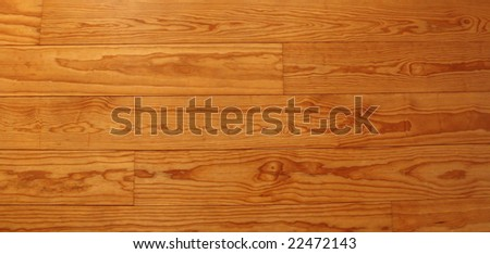 Close up of a high quality pitch pine floor in golden brown - stock photo