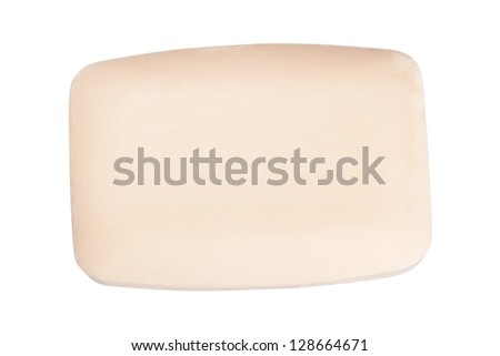 Close up of a hygiene soap on white background - stock photo