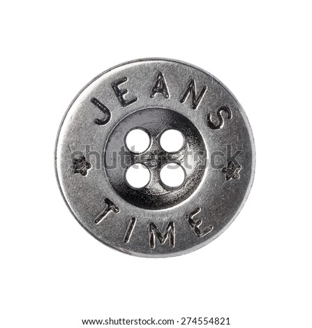 close up of a jeans button