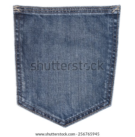 close up of a jeans pocket - stock photo