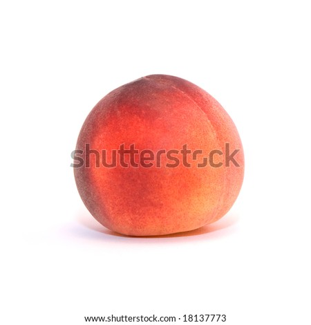 Close up of a juicy peach - stock photo