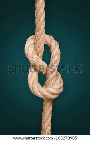 close up of a knotted rope