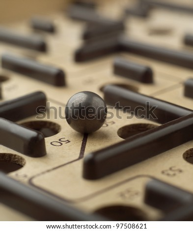 Close up of a Labyrinth Game - stock photo