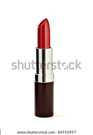 close up of a lipstick on white background with clipping path - stock photo