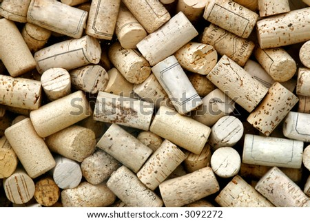 Close-up of a lot of corks.