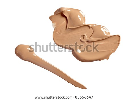 close up of  a make up powder on white background
