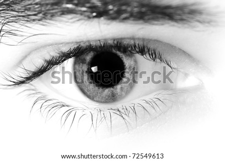 Close up of a mans eyes. - stock photo
